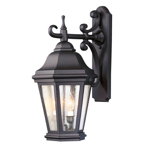Troy Lighting Seeded Glass Outdoor Wall Light Bronze Troy Lighting BCD6891BZ