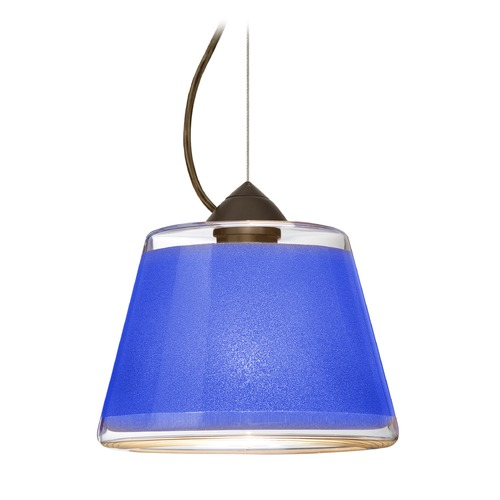 Besa Lighting Besa Lighting Pica Bronze Pendant Light with Empire Shade 1KX-PIC9BL-BR