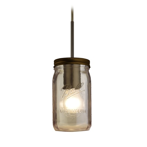 Besa Lighting Besa Lighting Milo Bronze Mini-Pendant Light with Cylindrical Shade 1JT-MILO4SM-BR