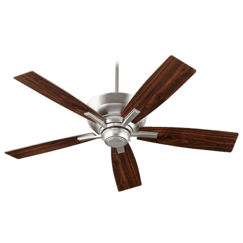 Quorum Lighting Quorum Lighting Mercer Satin Nickel Ceiling Fan with Light 94525-65