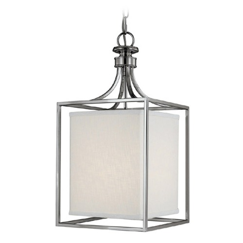 Capital Lighting Capital Lighting Midtown Polished Nickel Pendant Light with Rectangle Shade 9046PN-463