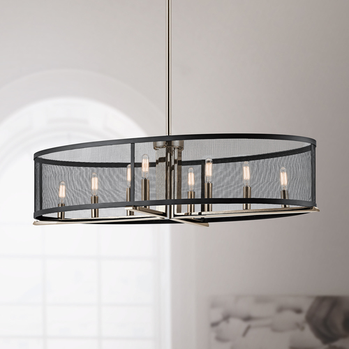 Kichler Lighting Industrial Pendant Light Polished Nickel Titus by Kichler Lighting 43712PN