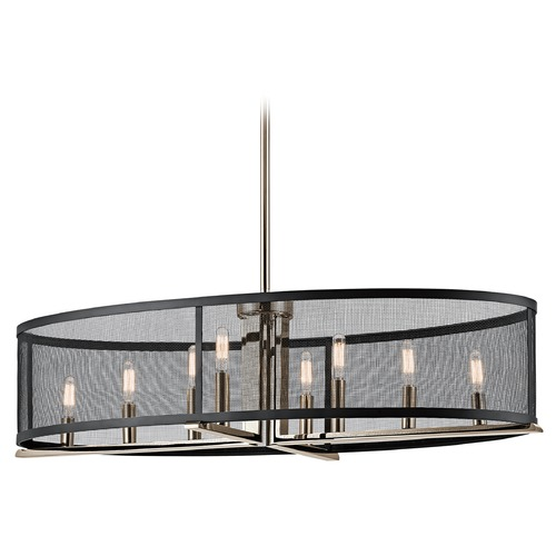 Kichler Lighting Kichler Lighting Titus Polished Nickel Pendant Light with Oval Shade 43712PN