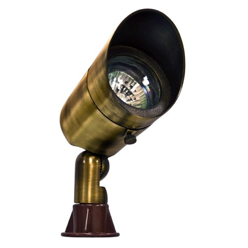 Dabmar Lighting Antique Brass Solid Brass Directional Spot Light with Hood LV131-ABS