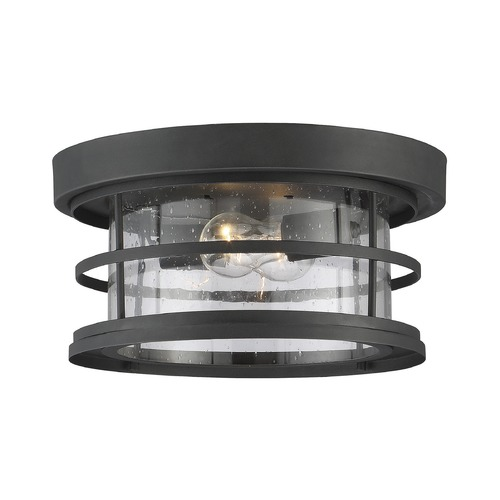 Savoy House Seeded Glass Close To Ceiling Light Black Savoy House 5-369-13-BK