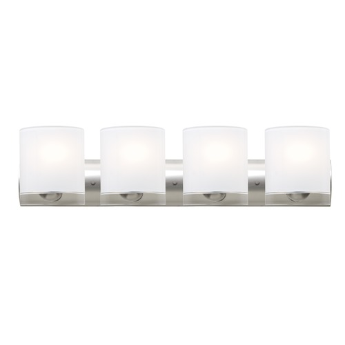 Besa Lighting Besa Lighting Celtic Satin Nickel LED Bathroom Light 4WZ-CELTICCL-LED-SN