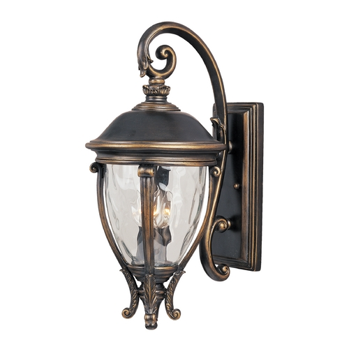 Maxim Lighting Outdoor Wall Light with Clear Glass in Golden Bronze Finish 41425WGGO
