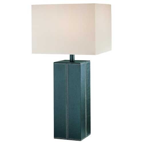 Lite Source Lighting Modern Table Lamp with White Shade in Dark Brown Finish LSF-2937DBRN/LT
