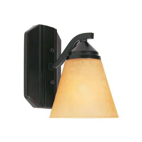 Designers Fountain Lighting Sconce Wall Light with Beige / Cream Glass in Oil Rubbed Bronze Finish 6601-ORB