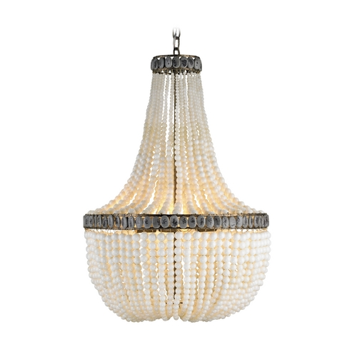 Currey and Company Lighting Modern Chandelier in Pyrite Bronze/cream/gray Finish 9970