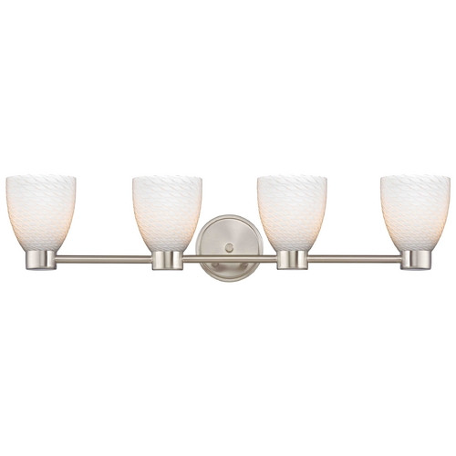 Design Classics Lighting Design Classics Lighting Aon Fuse Satin Nickel Bathroom Light 1804-09 GL1020MB
