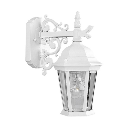 Progress Lighting Progress Outdoor Wall Light with Clear Glass in Textured White Finish P5682-30
