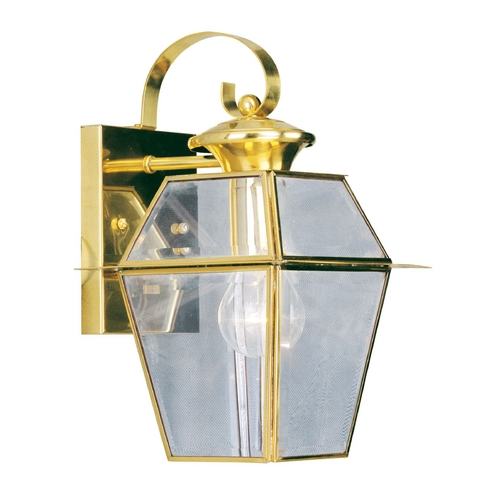 Livex Lighting Livex Lighting Westover Polished Brass Outdoor Wall Light 2181-02