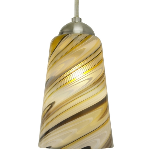 Oggetti Lighting Oggetti Lighting Carnivale Satin Nickel Mini-Pendant Light with Cylindrical Shade 22-215A