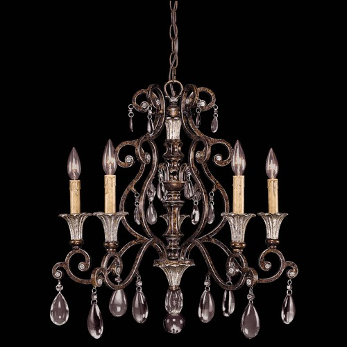 Savoy House Savoy House New Tortoise Shell W/silver Crystal Chandelier 1-3001-5-8