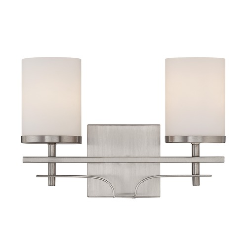 Savoy House Savoy House Satin Nickel Bathroom Light 8-338-2-SN