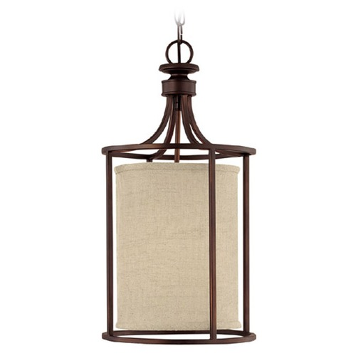 Capital Lighting Capital Lighting Midtown Burnished Bronze Pendant Light with Cylindrical Shade 9047BB-477