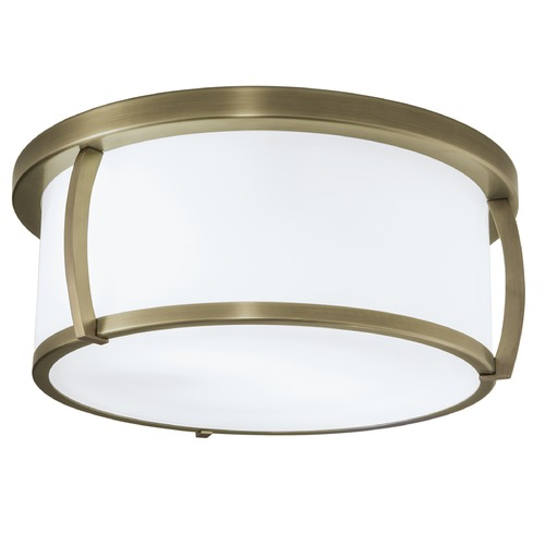Norwell Lighting Norwell Lighting Brooklyn Antique Brass Flushmount Light 5634-AN-SO