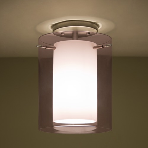 Besa Lighting Besa Lighting Pahu Satin Nickel LED Semi-Flushmount Light 1KM-A00607-LED-SN