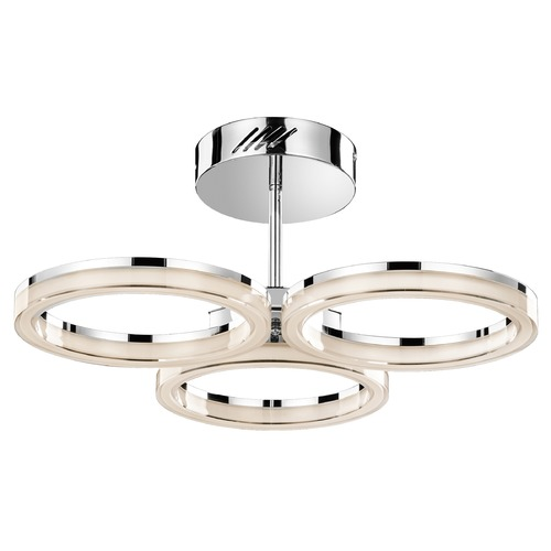 Elan Lighting Elan Lighting Ithican Chrome LED Semi-Flushmount Light 83441