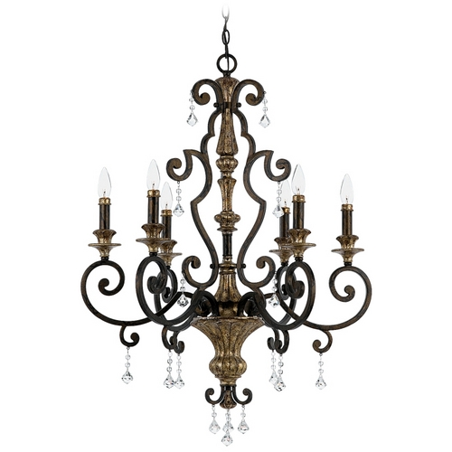 Quoizel Lighting Chandelier in Heirloom Finish MQ5006HL