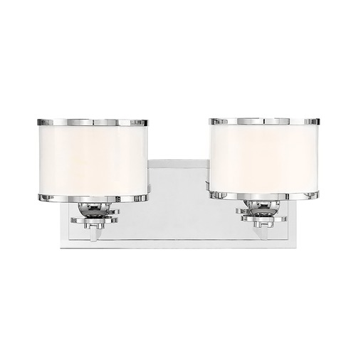 Hudson Valley Lighting Bathroom Light with White Glass in Polished Nickel Finish 6102-PN
