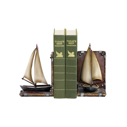 Sterling Lighting Decorative Sailboat Bookends 91-3907