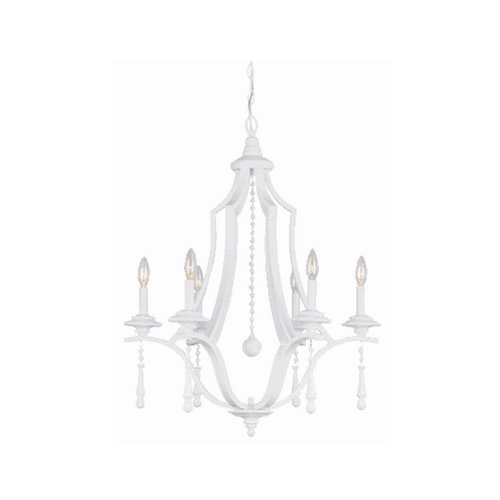 Crystorama Lighting Crystal Chandelier in Wet White Finish 9356-WW
