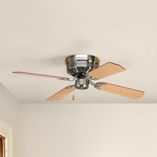 Progress Lighting Progress Ceiling Fan Without Light in Brushed Nickel Finish P2524-09