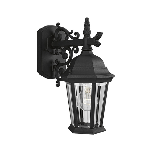 Progress Lighting Progress Outdoor Wall Light with Clear Glass in Textured Black Finish P5682-31