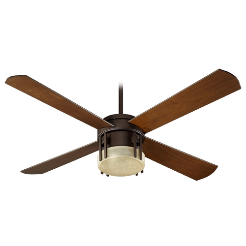 Quorum Lighting Quorum Lighting Mission Oiled Bronze Ceiling Fan with Light 53524-86