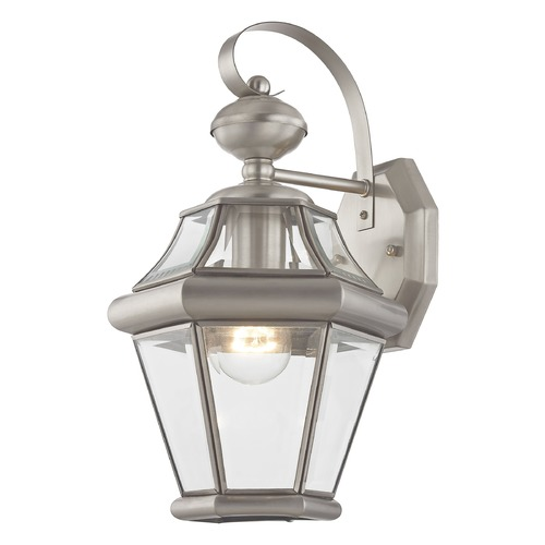 Livex Lighting Livex Lighting Georgetown Brushed Nickel Outdoor Wall Light 2161-91