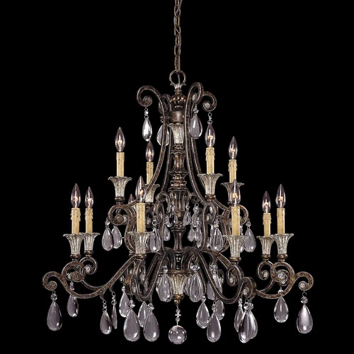 Savoy House Savoy House New Tortoise Shell W/silver Crystal Chandelier 1-3003-12-8