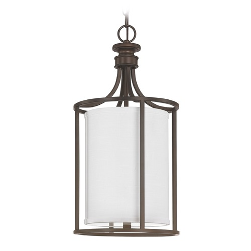 Capital Lighting Capital Lighting Midtown Burnished Bronze Pendant Light with Cylindrical Shade 9047BB-478