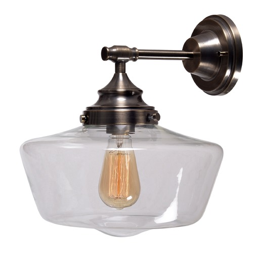 Kenroy Home Lighting Kenroy Home Cambridge Aged Metal Sconce 93659AGM