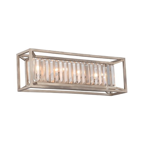 Designers Fountain Lighting Designers Fountain Linares Aged Platinum Bathroom Light 87404-AP