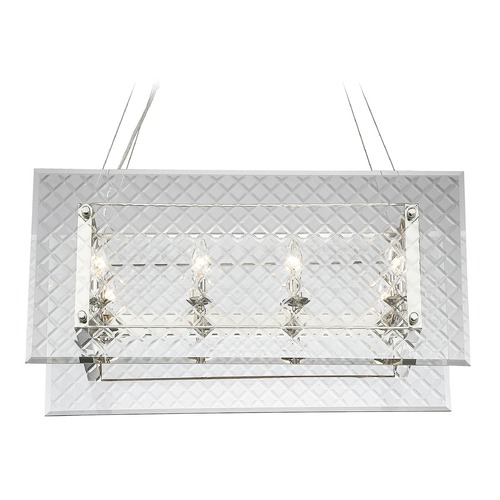 Savoy House Savoy House Lighting Addison Polished Nickel Island Light with Rectangle Shade 1-6040-8-109