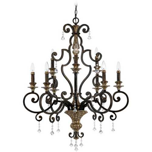 Quoizel Lighting Quoizel 9-Light Chandelier in Heirloom MQ5009HL