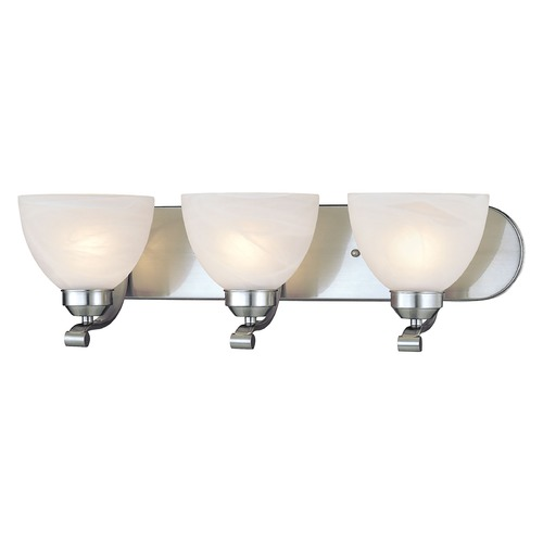 Minka Lavery Energy Star 3-Lt Bathroom Light - Etched Marble Glass 5423-84-PL