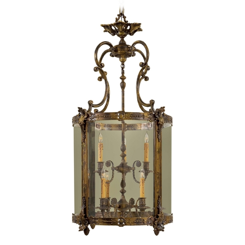 Metropolitan Lighting Pendant Light with Clear Glass in Antique Bronze Patina Finish N2342