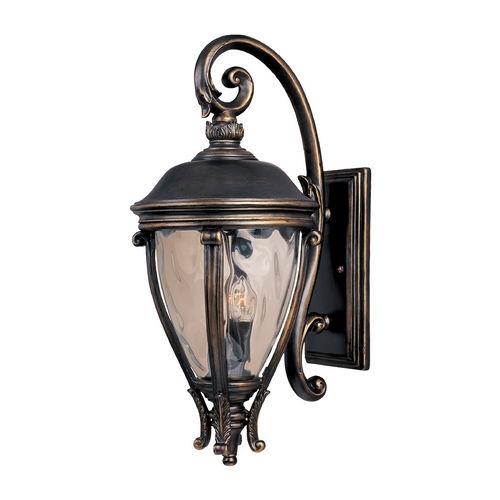 Maxim Lighting Outdoor Wall Light with Clear Glass in Golden Bronze Finish 41426WGGO