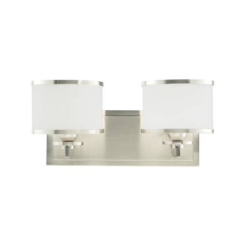 Hudson Valley Lighting Mid-Century Modern Bathroom Light Satin Nickel Basking Ridge by Hudson Valley 6102-SN
