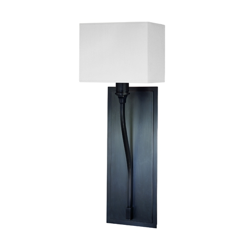 Hudson Valley Lighting Modern Sconce Wall Light with White Shade in Old Bronze Finish 641-OB