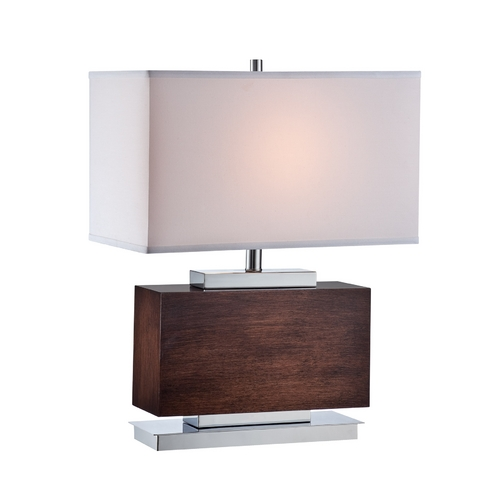 Lite Source Lighting Lite Source Lighting Firmino Chrome Table Lamp with Rectangle Shade LS-22069
