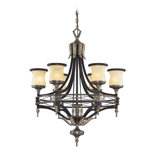Elk Lighting Chandelier in Antique Bronze & Dark Umber Finish 2431/6