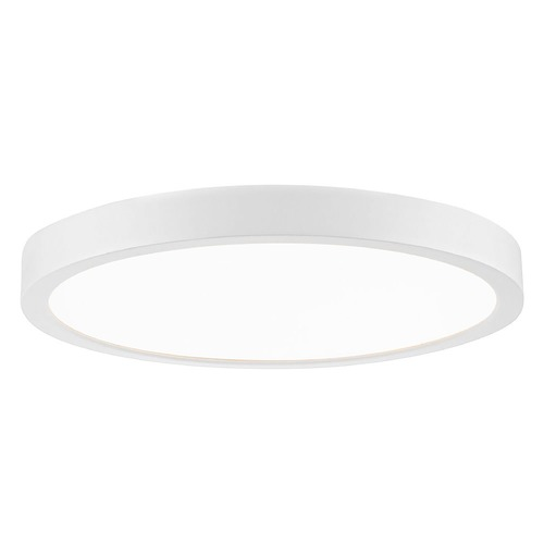 Design Classics Lighting Flat LED Light Surface Mount 10-Inch Round White 3000K 1511LM 10309-WH T16