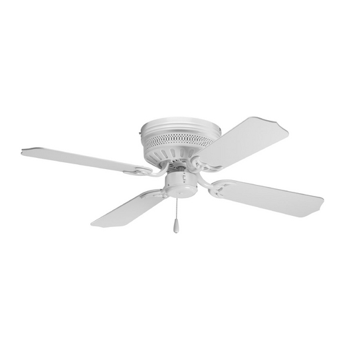 Progress Lighting Progress Ceiling Fan Without Light in White Finish P2524-30