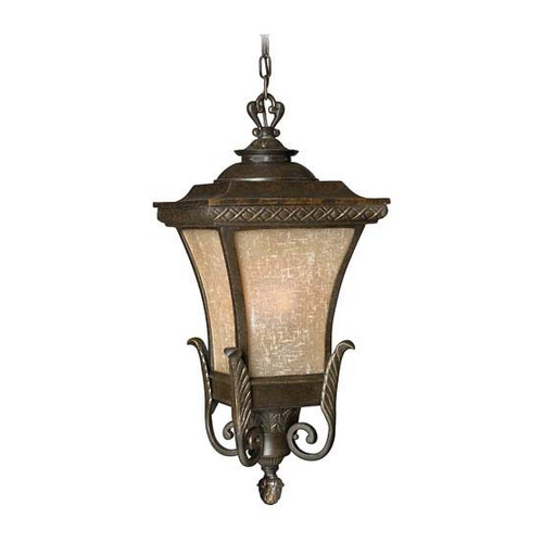 Hinkley Lighting Outdoor Hanging Light with Amber Glass in Regency Bronze Finish 1932RB