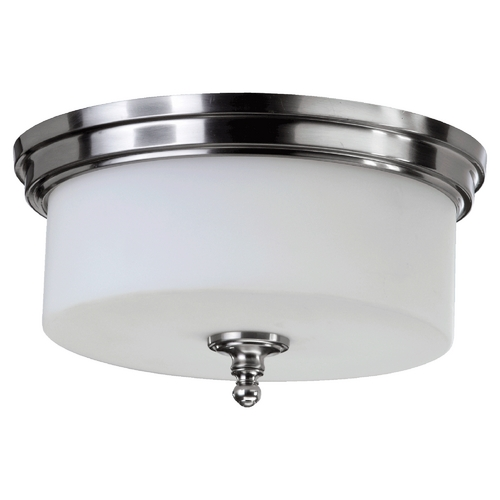 Quorum Lighting Quorum Lighting Rockwood Satin Nickel Flushmount Light 3090-14-65