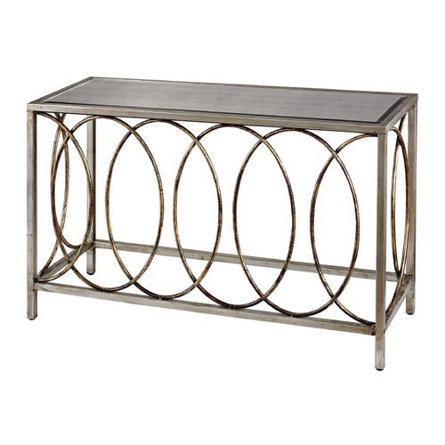 Sterling Lighting Rings Console Table With Mirrored Top 114-96